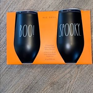 Rae Dunn BOO AND SPOOKY 12oz insulated wine